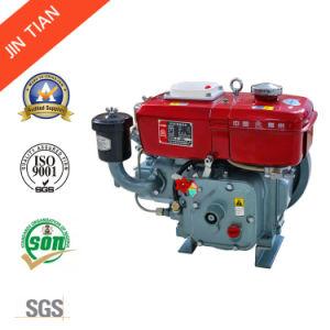 小さい水によって冷却されるディーゼル機関(JR165)のクランクを手で回す2.21kw/3HPホッパー