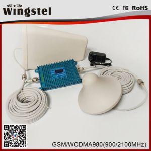 2018 de Nieuwe Repeater van het Signaal van het Ontwerp voor de Mobiele/Dubbele Spanningsverhoger van het Signaal van de Band 900/2100MHz 2g 3G met Antenne