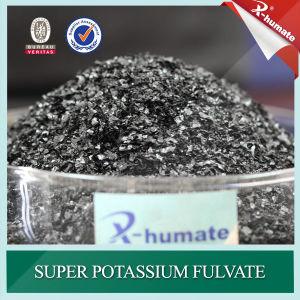 Organische Meststof van de Vlokken van Fulvate van het Kalium van 100% de In water oplosbare Super Glanzende