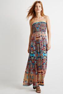 2015 sin Tirantes con Estampado Floral Vestido del Tubo Atractivo para la Mujer