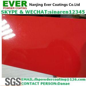 金属きらめきの真珠のトラフィックの赤いカラーRal3020粉のコーティング