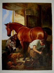 壁の装飾のための馬の絵画