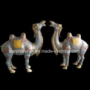 銅のエナメルのラクダ