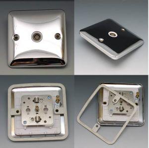 Prise TV/ British Silver Interrupteur en acier inoxydable