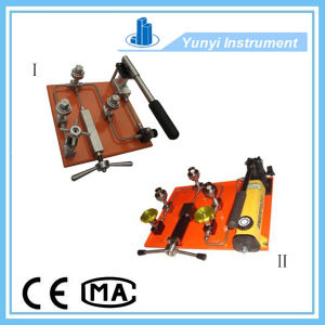 Hand Manual Pressure Pump Test Bench