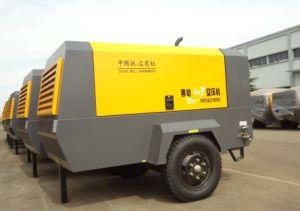 8bar 350cfm dos ruedas Portable compresor de aire