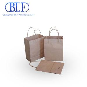 изготовленный на заказ<br/> печать логотипа торговой марки крафт-бумаги подарочные магазины сумки