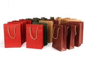 Stampa di colore di carta del sacchetto di acquisto del sacchetto di acquisto della carta kraft Grande nel sacchetto di acquisto della carta kraft