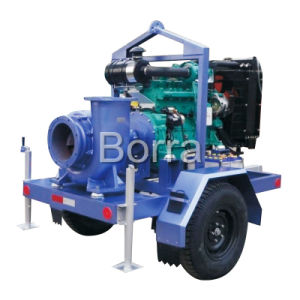 Rifiuti Big Flow Diesel Engine Water Pump con Trailer