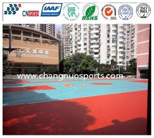 Il campo da pallacanestro ambientale della città universitaria verde mette in mostra la pavimentazione fatta in Cina