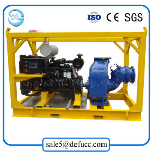 Fase Única Horizontal de grande volume com motor diesel da bomba de água