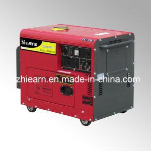 Air-Cooled Silent тип генератора дизельного двигателя красного цвета (DG6500SE)