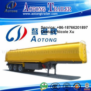 3車軸30t Flammable Liquid Fuel Oil Chemical Tank Semi Truck Trailer (50m³) (LAT9402GRY)