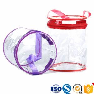 Claro PVC Plástica Cosmética bolsa con cremallera Logotipo personalizado