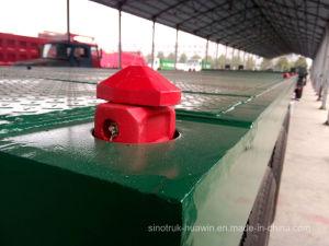 반 Sinotruk BPW 평상형 트레일러 3 차축 트럭 트레일러 40FT 콘테이너 트레일러