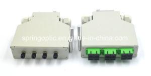 6 Sc/APC en carril DIN Adaptador Dúplex Caja de distribución de fibra óptica