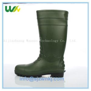 産業低価格PVCウェリントンブートの安全履物の鋼鉄つま先およびMidsole 828
