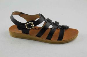 Les ventes à chaud à l'aise Mode féminine sandale avec croix Upper
