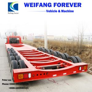 永久にWeifangの半3axles低いベッドのトレーラー