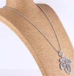 Halsband van de Tegenhanger van het Blad van de Boom van de Esdoorn van de manier de Anti Zilveren Gestempelde Gehamerde