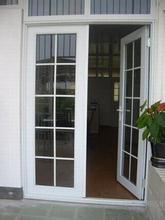 Portello interno bianco del portello di alluminio della stoffa per tendine