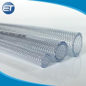 Manguera trenzada de PVC flexible de grado alimentario claro del tubo de agua potable norma FDA