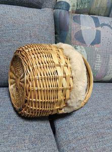 バックルのバスケット袋を作るNo. Zq1-4936の戦闘状況表示板のわらによって編まれる手