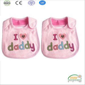 Lienzo de algodón en Cusotmized babero de bebé de diseño de impresión