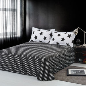 Stars impresso roupa de cama casa roupas de cama de algodão