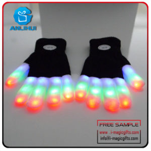 Luvas de flash de LED para festas e concertos de música