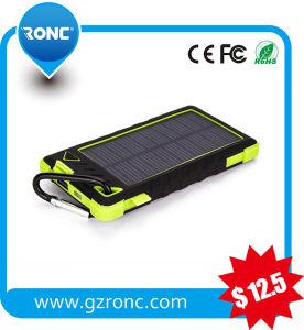 5000mAh de batería externo portátil con un enorme banco de potencia Cargador de batería Solar Panel