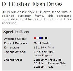 Настраиваемый логотип алюминиевый корпус Dh флэш-накопитель USB (АПН-011П)