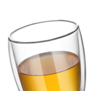 tazza di caffè di vetro doppia della tazza di tè 350ml (12oz)