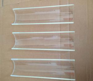 Halber Glasrod und Gefäß für Sonnenkollektor