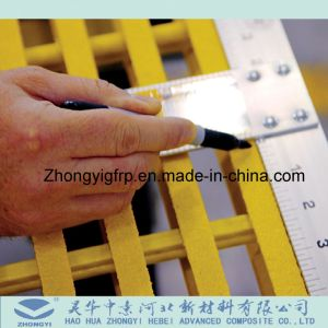 Rejilla de plástico reforzado con fibra y GRP Pultruded Rejilla y rejilla de la barra de plástico reforzado con fibra