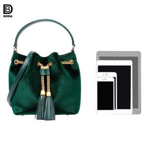 Populaires plus récents de gros sac bandoulière en cuir de PU de godet pour les filles