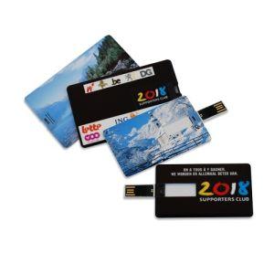 Подключите флэш-накопитель USB пластика размер визитной карточки с помощью пользовательских печать
