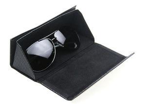 Couro de dobragem de óculos caso (HX386)