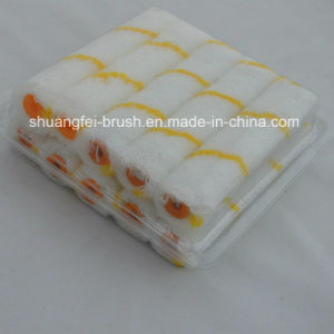 小型Acrylic Paint Rollers (黄色い縞の白いベース)