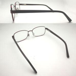 Het Optische Frame Van uitstekende kwaliteit van het Metaal van de Oogglazen van de Bril Eyewear van het Ontwerp van Italië met de Scharnier van de Lente voor Vrouwen