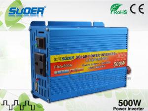 Suoer Inversor de potencia 500W inversor de energía solar 12V a 220V precio de fábrica inversor con CE&RoHS (FAA-500A)