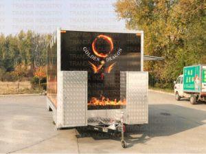 미국 거리 phan_may는 Qingdao 중국에서 한 트레일러 트럭을 짐마차로 나른다