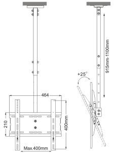заводская цена дешевых Menuboard потолочный кронштейн/Mount Pl 5060m