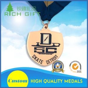 リボンが付いているあなた自身の習慣の金属のクラフトのスポーツメダルを設計しなさい