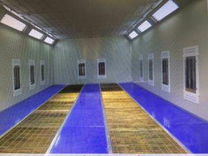Garagem com aprovação CE de carros usados equipamentos de pintura automática cabine de spray de tinta