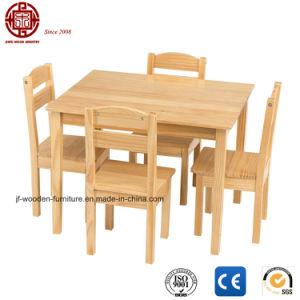 Los niños, mesa y sillas de madera 5 piezas Conjunto