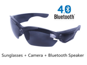Bluetooth 4.0 Sports Camera in Sunglasses mit Speaker (THB968BT)