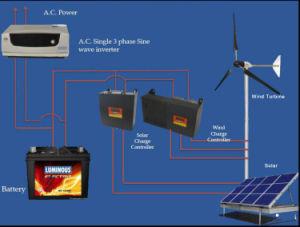 Completo más reciente sistema híbrido solar y eólica/generador solar 700W