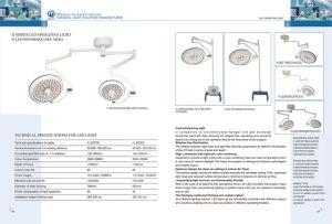 IIシリーズLED病院のShadowless操作ライト700可動装置
