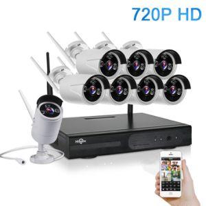 IP van de Visie van de Nacht van het Systeem 720p 8CH HD van kabeltelevisie Draadloze Camera